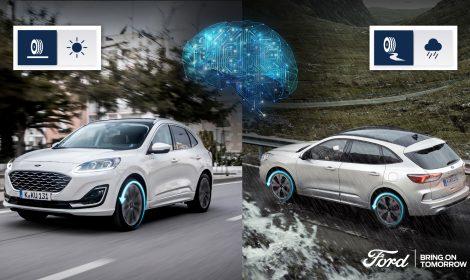 Umelá inteligencia vo Forde Kuga Hybrid pomáha vodičom pri jazde